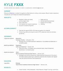Electrician Apprentice Resume Samples Eye Grabbing Apprentice Resumes Samples Livecareer