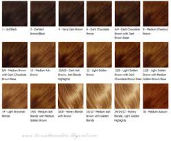 2018 Hair Color Chart Brown Best Hair Color With