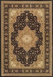 triumph persian style black 7 9 x10 2 area rug