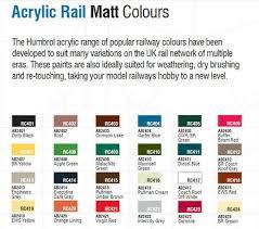 Airfix Model Paint Colour Chart Humbrol Model Acrylic Rail Colour Paint Pots Various