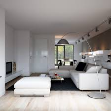 elegant track lighting. Arc Floor Lamp And Modern Track Lighting Design Feat Elegant L Shaped Leather Sofa Plus Black Living E