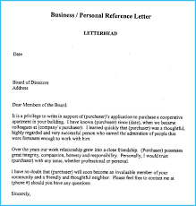 Business Reference Letter Write It Effectively 6 Best