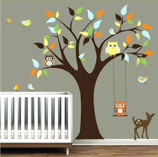 wall decals tree nursery nursery wall decals tree stickers with animals owls wall decal zoom wall