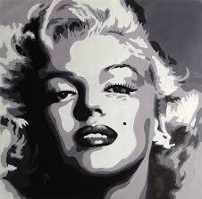 marilyn monroe black and white pop art google search
