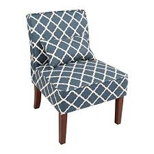 Blue Pattern Accent Chair Mesmerizing Amazon Innovex Novian Accent Chair Blue Pattern Adult