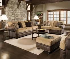 Traditional Sofa Sets Living Room Traditional Beige Brown Living Room Sofa Set W Rolled Arms Amp