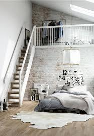 Loft Bedroom Inspirations Pour Des Murs De Briques Beautiful Design And