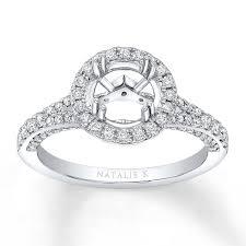 Natalie K Ring Setting 5/8 ct tw Diamonds 14K White Gold | Jared