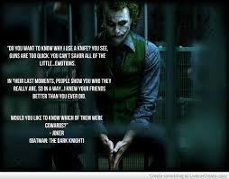 Best Joker Quotes Adorable Memorable Quotes From Joker The Joker Self Demonstrating TV Tropes