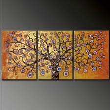 oil painting on canvas ready to hang 3pcs set colourful living tree modern