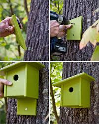 Birdhouse Modern Birdhouse Made Of Recycled Plastic Loll Designs