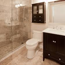 Gorgeous ModernTraditional Bathroom Remodel With Frameless Glass - Bathroom cabinet remodel