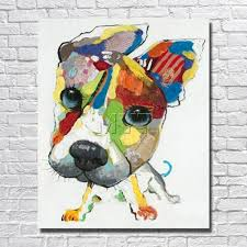 wall art canvas abstract dog painting home decor living room decor for abstract dog wall art