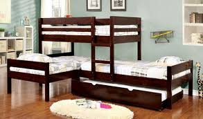 Triple bunk bed with trundle. Custom Kids Furniture