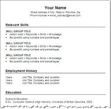 Resume Examples Simple Simple Resumes Templates Student Resume ...