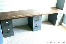 diy desk with file cabinets desk using file cabinets desk with filing cabinet s under desk