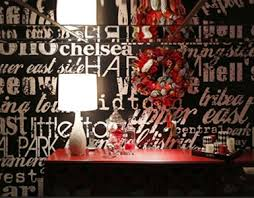 black and white wallpaper mural on black and white with a splash of red wall art with black white wallpaper murals
