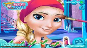 free game line frozen elsa anna prom makeup design