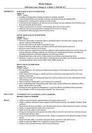 Restaurant Supervisor Resume Examples Best of Restaurant Supervisor Resume Samples Velvet Jobs For Resume Sample