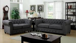 Furniture of America Import Direct Stanford Stanford Gray Sofa