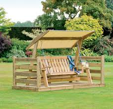 alexander rose pine farmers swing seat with ecru canopy
