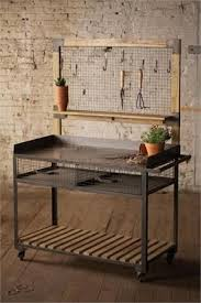 industrial furniture diy.  Industrial DIY Repurposed BBQ Industrial Furniture Metal And Wood Potting  Station Hooks Included Throughout Diy L