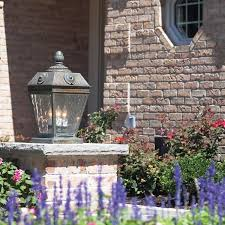 french outdoor lighting. French Country™ Exterior Pier Light Atop A Low Wall For Landscape Lighting Outdoor O