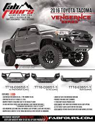 Fab Fours 2016 Toyota Tacoma Bumpers – TAW ALL ACCESS