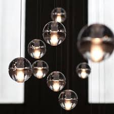 2016 new bocci g4 led crystal glass ball pendant lamp meteor rain ceiling light meteoric shower stair bubble droplight 3 5 7 26 etc lights traditional