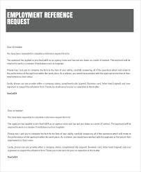 Reference Request Letter Employment Reference Request Letter Template Examples