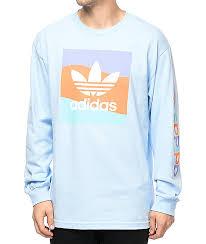 adidas long sleeve. adidas blackbird blue long sleeve t-shirt t