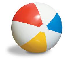 beach ball on beach. Beach Ball On S
