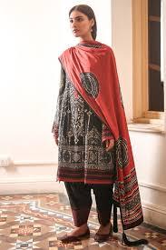 3 Piece Printed Khaddar Suit With Khaddar Dupatta Alkaram
