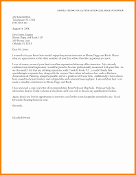 6 Sample Thank You Letter After Interview Via Email Sap Appeal