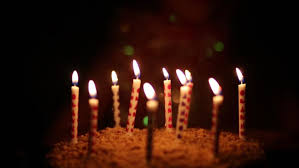 lighting candles on cake and girl out of focus on darkness at birthday stock footage 14655019 shutterstock