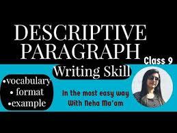 descriptive paragraph on a person cl
