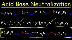 acid base neutralization reactions net ionic equations chemistry