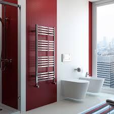 Radox Quebis Designer Heated Towel Rail 610mm H x 800mm W Chrome ...