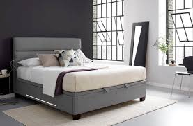 Bed With Lights Dale Grey Fabric Ottoman Storage Bed With Lights Usb Ports Double King Love Home Living