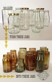 8 colour tinted jars and bottles