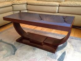 ... Dark Brown Rectangle Wooden Lacquered Art Deco Coffee Table Designs  Ideas: art deco ...