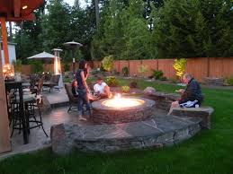 deck patio with fire pit. Beautiful Outdoor Patio With Flagstone Floor And Fire-pit Deck Fire Pit T