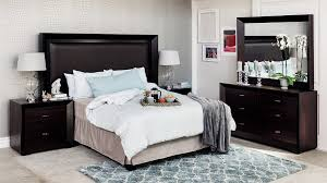 Delightful SIENNA 5PCE BEDROOM SUITE, BLACK, WOOD