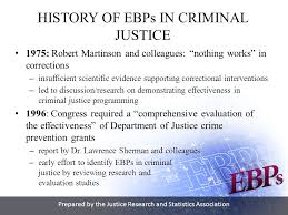martinson nothing works prepared by the justice research and statistics association