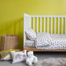 grey elephant toddler cot bed duvet set