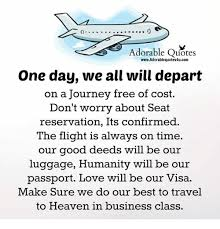 Flight Quotes Custom Adorable Quotes WwwAdorablequotes48ucom One Day We All Will Depart On