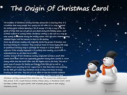 the origin of christmas carol