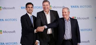 Tata Motors And Microsoft India Join Forces To Enhance In Car Efficiency