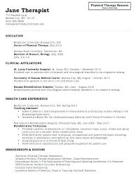 Physical Therapist Job Description For Resume Best Of Sample Physical Therapy Resume Physical Therapy Resume Therapist