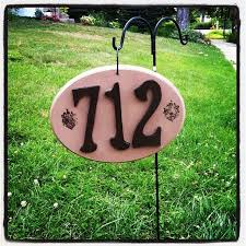 Decorative Metal Yard Signs Decorative House Number Signs Design Ideas 44